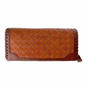 Vintage Derek Alexander Leather Woven Wallet
